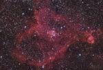 IC 1805 - Heart Nebula - less stars - displ. image